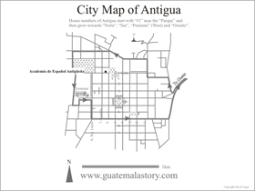 Antiguena location map