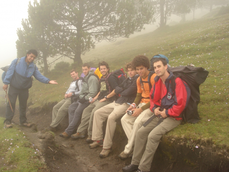Hiking up the Tajumulco
