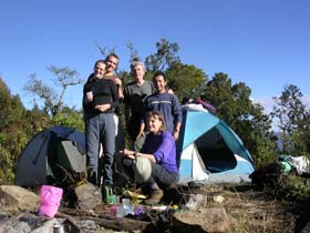 A camping trip to the Rejeguero. The school′s teachers are passionate hikers and take you to incredible outings.
