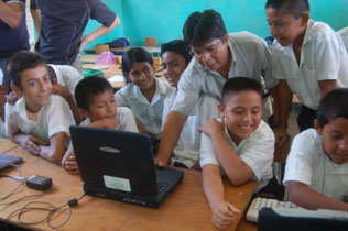Computing class for children