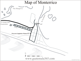 Location map Monterrico