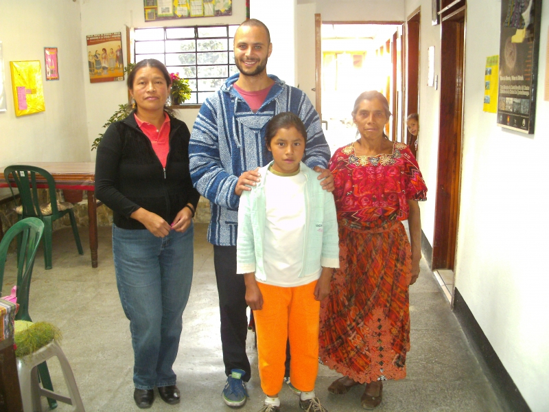 Volunteer and family of granted girl