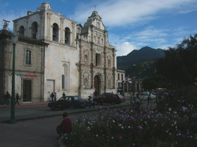 The cathedral of Quetzaltenango