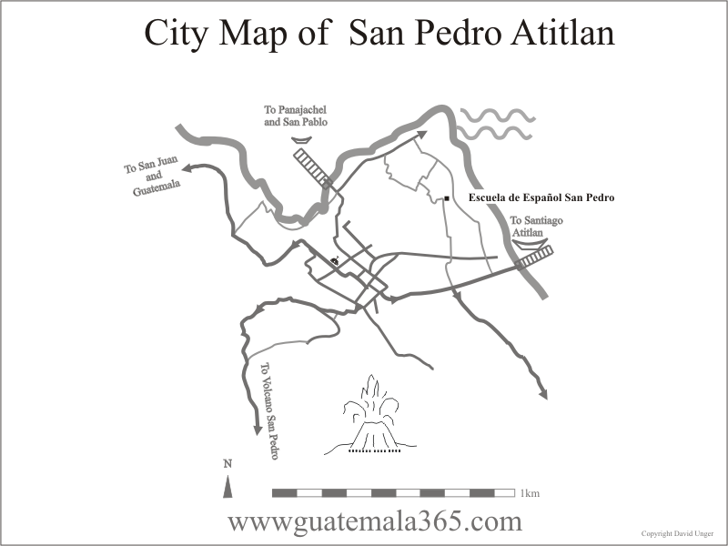 Location map of San Pedro School