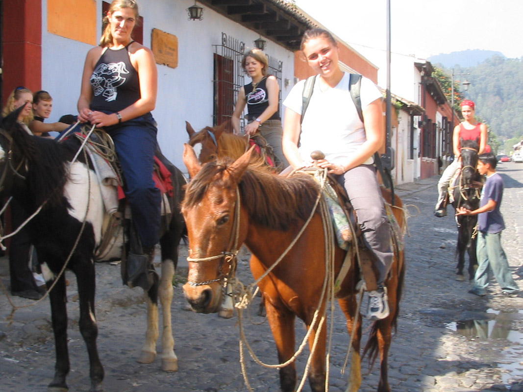 Horseback riding through Antigua
