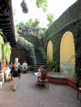 Patio of Tecun Uman Spanish School
