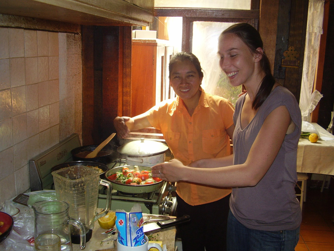 Part of your studies is to learn how to prepare local dishes