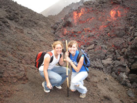 While taking this photo, we were grilled from behind (Pacaya Volcano)