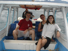 Traveling on Lake Atitlán